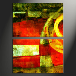 home wall decor, 2 piece canvas wall art, oil paintings multi panel art, abstract group canvas, abstract photo canvas