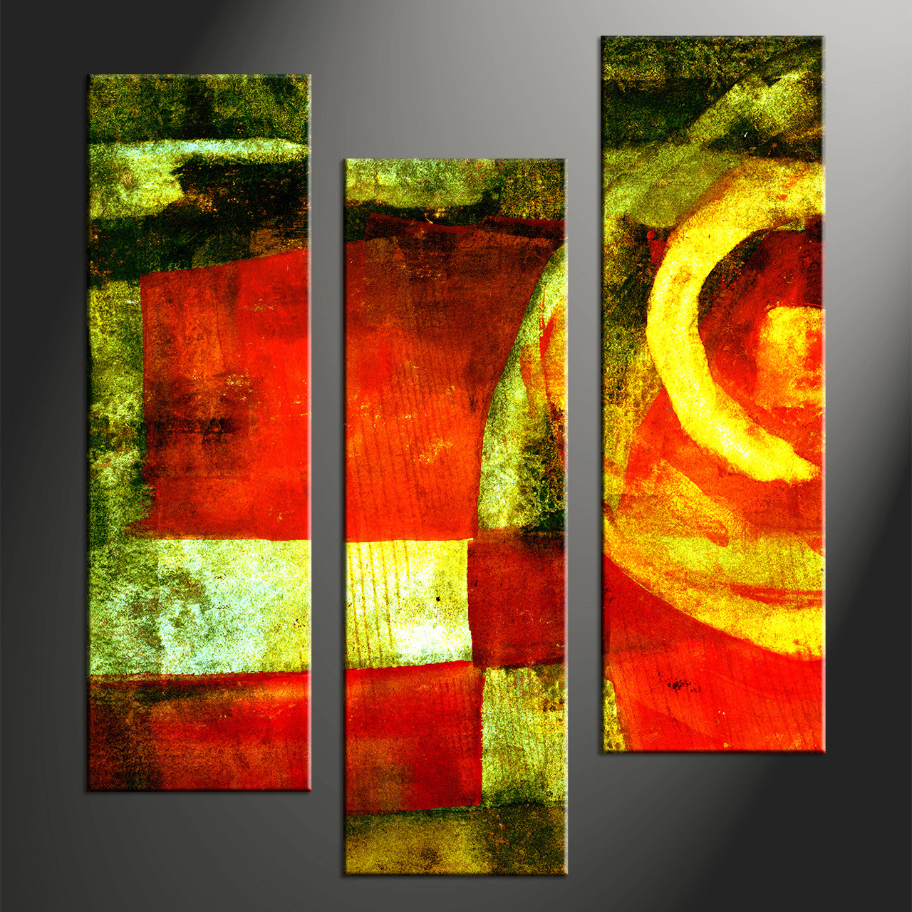 Home Decor 3 Piece Canvas Wall Art Abstract Group Photography