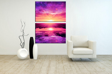 living room wall art,2 piece canvas wall decor,ocean artwork,ocean pictures