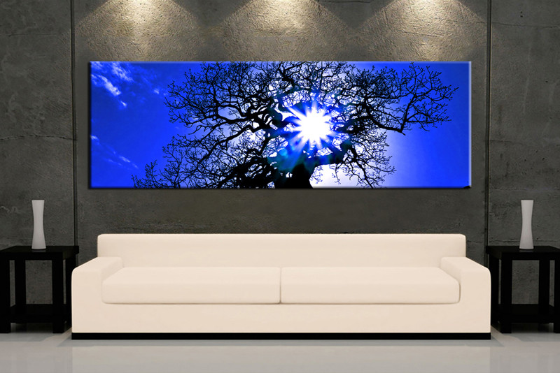 1 Piece Blue Canvas Scenery Wall Art