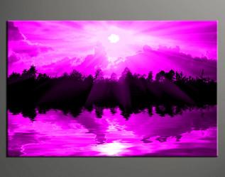 1 piece wall decor, home decor large canvas, purple group canvas, sunrise artwork, scenery pictures