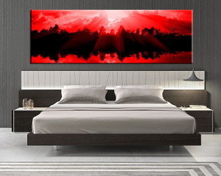 1 piece group canvas, bedroom canvas art prints, scenery multi panel art, sunrise large canvas