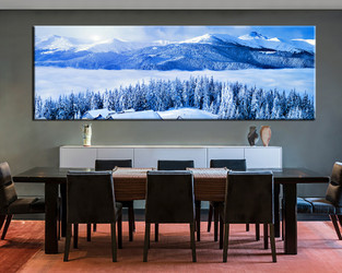 1 piece canvas print, dining room decor, blue canvas art prints, scenery pictures,landscape multi panel canvas