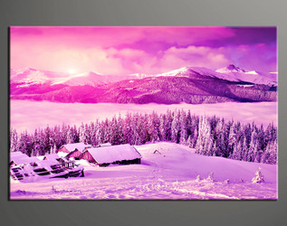 1 piece wall art, home decor pictures, purple photo canvas, sunrise artwork, scenery pictures