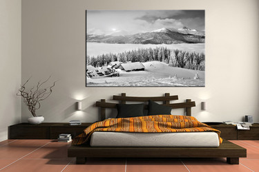 1 piece canvas wall art, bedroom art print, black and white canvas print, landscape group canvas, landscape art