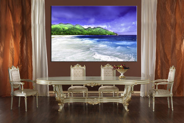 1 piece large canvas, dining room wall art, blue ocean large pictures, mountain canvas photography, blue sky artwork