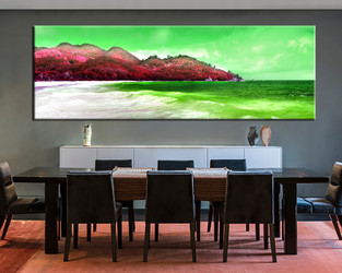 dining room photo canvas, 1 piece wall art, ocean large canvas, green ocean artwork, landscape large pictures