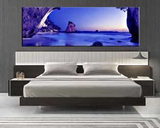 1 piece canvas print, bedroom canvas wall art, beach pictures, blue ocean canvas photography, mountain art