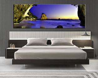1 piece canvas art print, bedroom art, ocean multi panel art, landscape huge pictures, ocean blue art