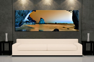1 piece canvas photography, living room pictures , brown ocean huge pictures, mountain wall art, beach artwork, ocean canvas print