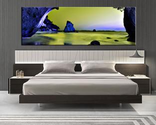1 piece canvas art print, bedroom art, ocean multi panel art, ocean huge pictures