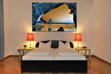 bedroom decor, 1 piece wall art, ocean pictures, mountain art, brown ocean large pictures, ocean artwork