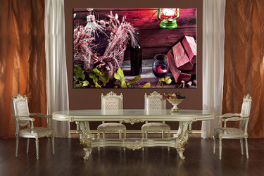 dining room wall decor, 1 piece wall art, wine multi panel art, kitchen huge pictures, red wine pictures