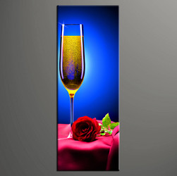 1 piece canvas wall art, bedroom huge canvas art, wine large pictures, wine blue multi panel canvas