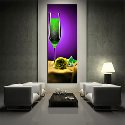 1 piece canvas wall art, living room huge canvas print, purple wine photo canvas, wine large pictures