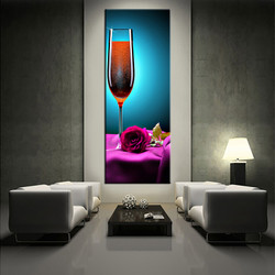 1 piece large pictures, living room multi panel art, wine colorful photo canvas, wine artwork