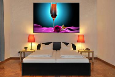 bedroom wall art, 1 piece canvas wall art, wine wall art, wine colorful artwork, wine artwork