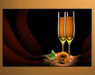 1 piece canvas print, home decor artwork, wine photo canvas, floral canvas photography, wine art