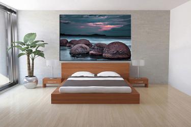 1 piece canvas wall art, bedroom art print, ocean large canvas, ocean large canvas, blue ocean art