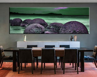 1 piece large canvas, dining room wall art, green ocean pictures, ocean canvas photography