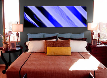1 piece canvas wall art, bedroom abstract artwork, abstract pictures, abstract canvas print, blue artwork