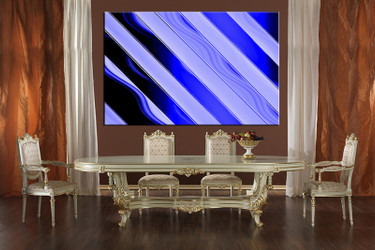 1 piece canvas wall art, abstract canvas print, blue abstract art, dining room canvas photography