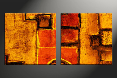 2 piece canvas photography, home decor art, abstract huge pictures, orange abstract wall decor