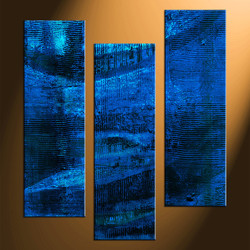 home decor, 3 piece canvas art prints, blue abstract photo canvas, abstract canvas photography, abstract large pictures