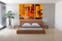 3 piece canvas wall art, bedroom art print, abstract large canvas, orange abstract multi panel canvas
