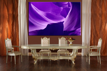 1 piece large canvas, dining room canvas wall art, purple mountain artwork, landscape huge pictures, landscape art