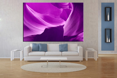 living room wall art,1 piece wall art, purple mountain multi panel art, landscape large pictures, landscape photo canvas