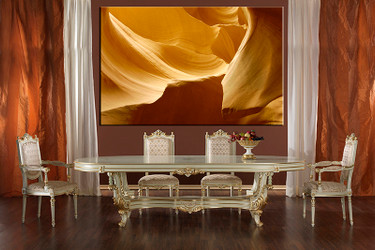 1 piece large canvas, dining room wall art, yellow mountain pictures, landscape canvas photography