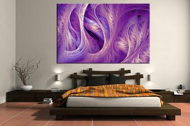 1 piece canvas art print, bedroom art, modern canvas wall art, abstract green huge pictures