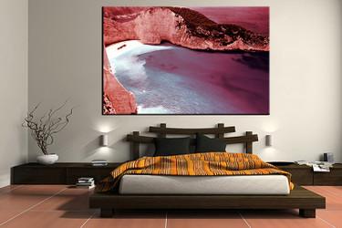 1 piece canvas wall art, bedroom art print, ocean large canvas, landscape wall art, ocean art
