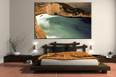 1 piece canvas art print, bedroom art, ocean multi panel art, landscape huge pictures, ocean artwork