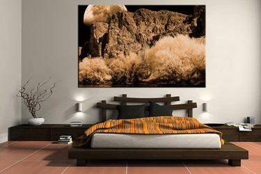 1 piece canvas wall art, bedroom art print, landscape large canvas, landscape multi panel canvas