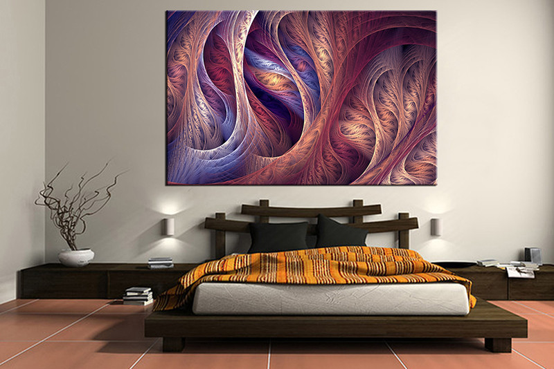 1 Piece Brown Modern Canvas Print,abstract decor,Abstract Wall Art