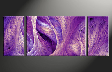 3 piece wall art, home decor modern artwork, purple modern pictures, modern canvas print, modern huge pictures