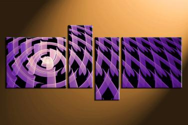 4 piece canvas photography, home decor art, purple modern huge pictures, modern wall decor