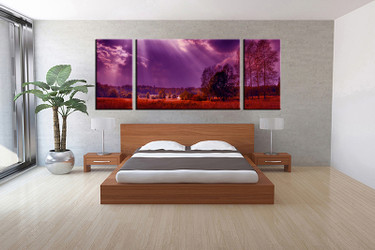 3 piece canvas wall art, bedroom scenery artwork, scenery pictures, nature canvas print, scenery artwork