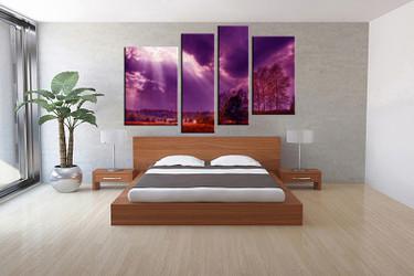 4 piece canvas wall art, bedroom scenery artwork, scenery pictures, nature canvas print, scenery artwork