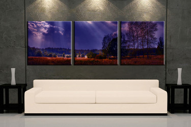 3 piece wall art, blue scenery multi panel art, scenery artwork, scenery huge large pictures, living room photo canvas