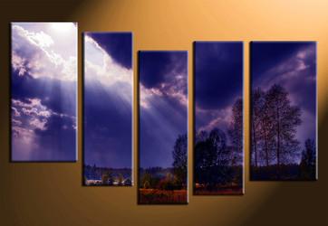 5 piece canvas print, home decor artwork, scenery photo canvas, scenery canvas photography