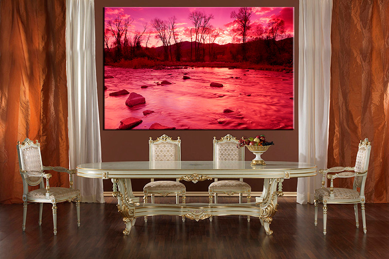 1 Piece Scenery Pictures Red Large Canvas,Art Gallery Store