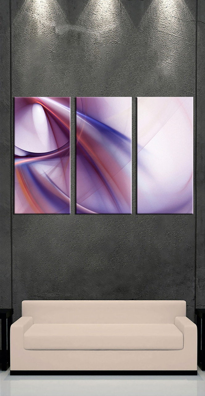 3 Home Decor Trends For Spring Brittany Stager: 3 Piece Canvas Purple Multi Panel Canvas
