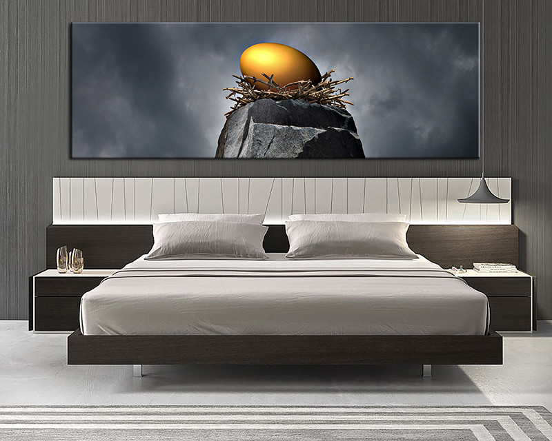 40 Piece Grey GoldModern Nest Panoramic Canvas Prints Photographyabstract Decor Inspiration Contemporary Bedroom Wall Art