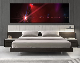 1 piece canvas wall art, bedroom art print, red modern large canvas, modern multi panel canvas