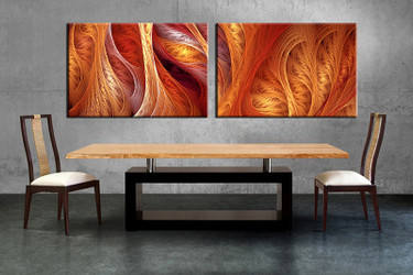 2 piece multi panel canvas, dining room canvas photography, brown modern wall art, modern artwork