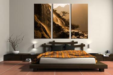 3 piece canvas wall art, bedroom landscape artwork, scenery pictures, landscape canvas print, landscape artwork