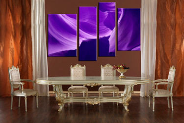 4 piece large canvas, dining room wall art, purple landscape pictures, landscape canvas photography